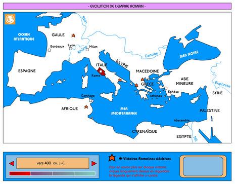 Une carte animée de l'empire romain | Salvete discipuli | Scoop.it