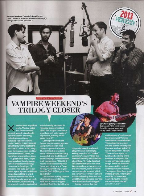 Vampire Weekend: 3rd Album set for May release   Alternative Rock   Scoop.it