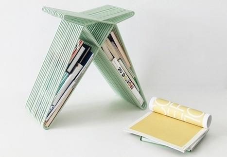 Una buena idea: guardar libros y revistas en un pequeño taburete | Books and Bookstores | Scoop.it