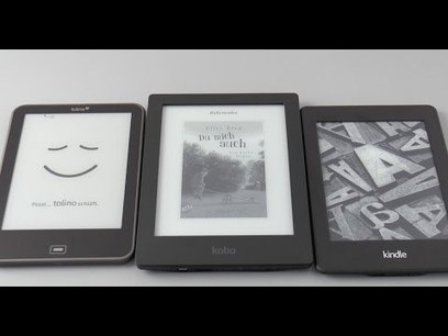 eBook-Reader im Vergleich: Tolino Vision, Kobo Aura HD, Kindle Paperwhite - YouTube | E-books en E-readers | Scoop.it
