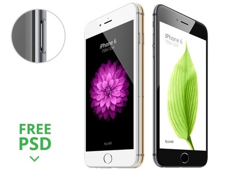 4.7' iPhone 6 Mockup PSD (Siyah, Beyaz, Altın) | www.gafolik.com | Scoop.it