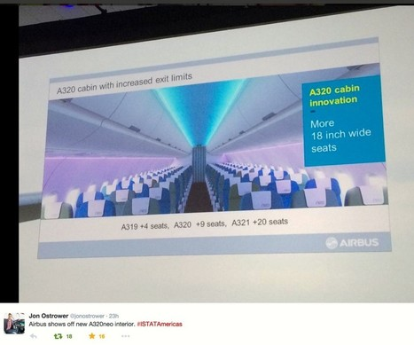 Will slim seats pitched at 27 inches be used in 195-seat A320? - Runway Girl Network | Formation aéronautique, training & industry | Scoop.it