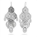 Chandelier Earrings | Silver CZ Chandelier Earrings | Eve's Addiction | skirt | Scoop.it