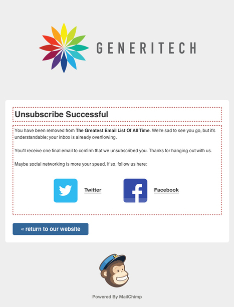 Giving Unsubscribers Other Options | MailChimp Email Marketing Blog | Email Marketing Virtual Assistant | Scoop.it