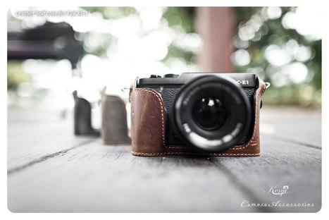 Kenji Leather Half Case for Fujifilm X-E1 | Kenji Leather | Fuji X Series Cameras | Scoop.it