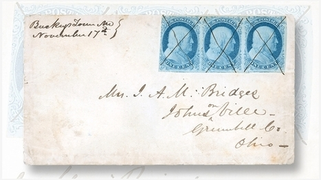 1851 cover with rare 1¢ Franklin strip fetches $47,200 at Kelleher auction | Philatelie - Stamps Collection - Briefmarken Sammlung | Scoop.it