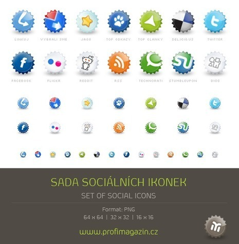 Set of social icons | Programas varios. | Scoop.it