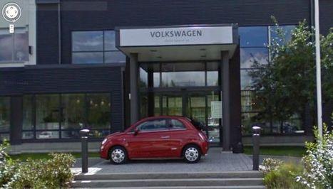 O que faz um Fiat 500 à porta da sede da VW Suécia? | Motores | Scoop.it