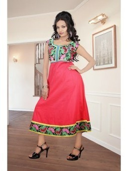 Buy Online Annona Red Cotton Embroidered Kurti 9839 At Best Price | Online Suit Salwar Kameez |  Suit Price| Suit Sale | Apparel | Women Suit | Scoop.it