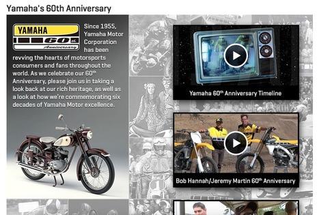 Yamaha U.S. Launches Special 60th Anniversary Microsite | California Flat Track Association (CFTA) | Scoop.it
