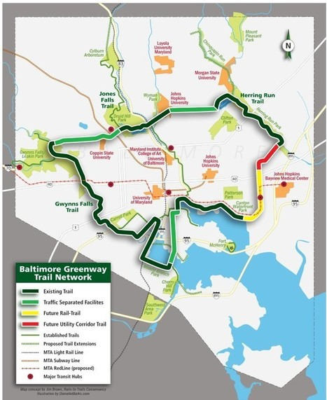 112 Years Later: Baltimore's Trail Network Vision Is Coming of Age | Suburban Land Trusts | Scoop.it