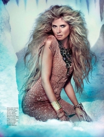 Heidi Klum for Amica December 2012 | TAFT: Trends And Fashion Timeline | Scoop.it