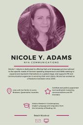 Greatest Women in Translation: Nicole Y. Adams | Professional Translation | Scoop.it