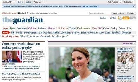 The Guardian permite elegir portada para eliminar 'el parto real' | Network Society | Scoop.it