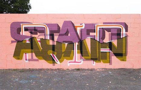 Graffiti imbriqués – Les dernières créations street art de Peter Preffington | Street Art | Scoop.it