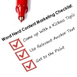The Word Nerd Content Marketing Checklist | Real SEO | Scoop.it