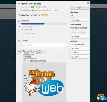 Trello - Un service de gestion de tâches et notes évolué type kanban - La Ferme du web | community management | Scoop.it