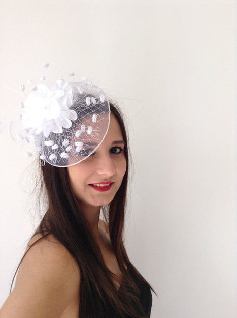 white bridal hat,bridal accessories, wedding accessories,Wedding Hair Accessories,  handmade, fashion, | wedding | Scoop.it