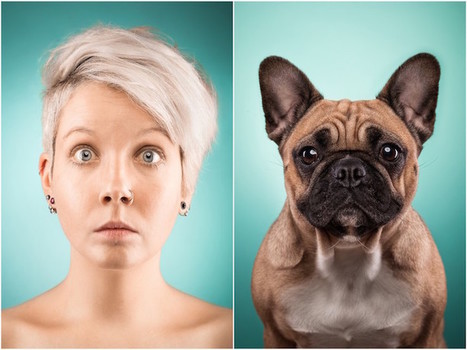 Pet Owners Mimic Their Dogs in Adorable Look-Alike Portraits | Le It e Amo ✪ | Scoop.it