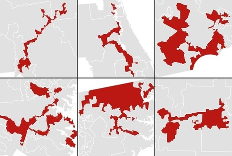 America's most gerrymandered congressional districts | JWK Geography | Scoop.it
