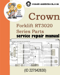 Crown Forklift RT3020 Series Parts Manual   pdf download Factory&Workshop Repair Manual Service Manuals   DO IT YOURSELF   Scoop.it
