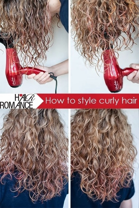 #Beauty : How to style your curly hair | Hairstyle Tutorials | Scoop.it