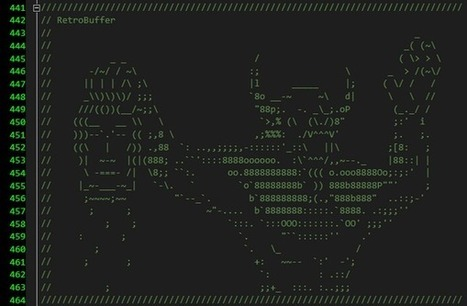 Twitter / FrostbiteEngine: Basically, there's some awesome ... | ASCII Art | Scoop.it
