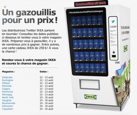 Ikea pousse ses followers à tweeter grâce à un distributeur de récompenses #web2store #mobile2store | Retail2.0 | Scoop.it
