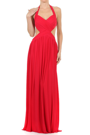 Rent Lady in Red Open Back Prom Dress | Rent The Dress | Rent The Dress | Scoop.it