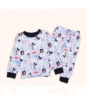 kids sets 4pcs lots children clothing mickey pajamas for boys girls kids sleepwear cotton suit | Clothing at SMA-STAR | Scoop.it