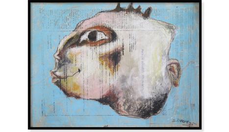 "1 SEMAINE/1 ŒUVRE – "" Untitled 14"" de Sadikou Oukpedjo   Galerie Cécile Fakhoury - Abidjan   Scoop.it"