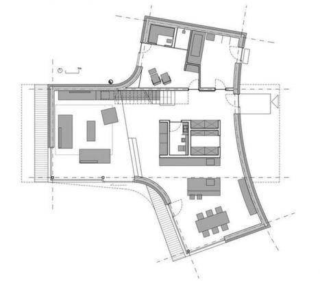 Maison contemporaine en T combinant bois et béton en Slovénie | Construire Tendance | Dans l'actu | Doc' ESTP | Scoop.it