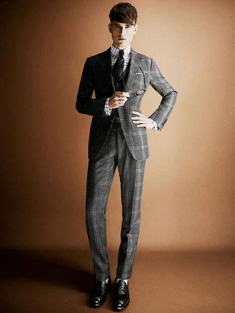 Tom Ford Menswear Sees Tweed for Fall | Fashion News by JustLuxe | Mens hair style | Scoop.it