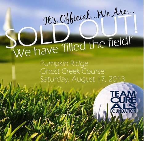 "Did Someone say: ""SOLD OUT""! You Betcha! #TEAMCureALS 7th Annual Golf Tourney 