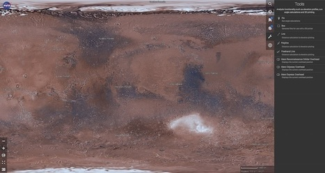 La NASA lanza Mars Trek, un completo mapa interactivo para explorar la superficie de Marte   Las utilidades 2.0 de epampliega   Scoop.it