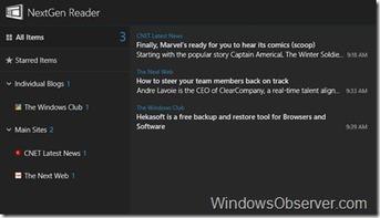 Exclusive – Free download of Nextgen Reader App for Windows 8 | Windows 8 Apps | Scoop.it