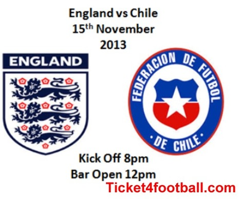 England Vs Chile Tickets - England Tickets - buy Chile Tickets   Football Ticket   Scoop.it