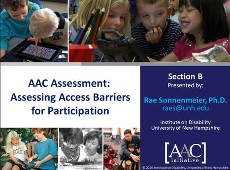 Video of the Week: More on Assessing Barriers to Access for AAC Learners | AAC: Augmentative and Alternative Communication | Scoop.it