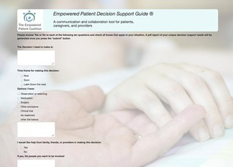 The Empowered Patient Decision Support App | Patient Self Management | Scoop.it