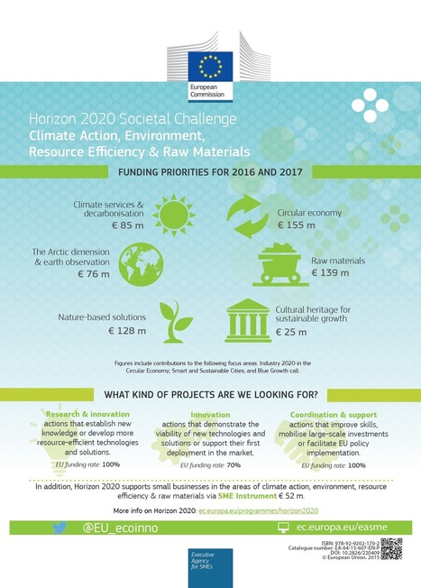 Horizon 2020 Environment and Resources - EASME - European Commission | Sociedad 3.0 | Scoop.it