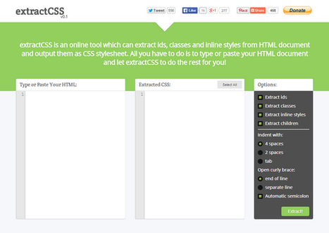 Extract Inline CSS Styles from HTML Document | My Favorites | Scoop.it