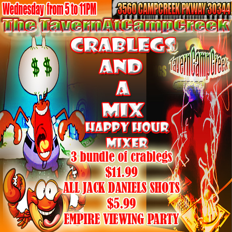 That's tonight at the TavernAtCampCreek #CrabLegsAndAMix | GetAtMe | Scoop.it