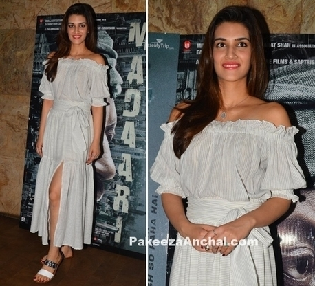 Kriti Sanon in Off Shoulder dress by Madison | Indian Fashion Updates | Scoop.it
