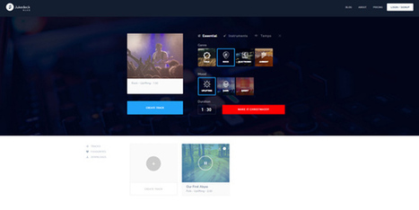 Créer des musiques libres de droits avec l'intelligence artificielle Jukedeck | Art, Design and Imagination | Scoop.it