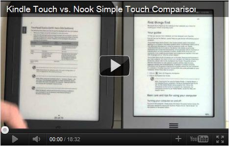 Amazon KindleTouch/ NookTouch: duel au sommet | EBOOKS | Scoop.it
