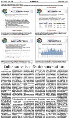 La NSA collecte le carnet d'adresse des internautes (Washington Post) - Arrêt sur images   Lecture citoyenne   Scoop.it
