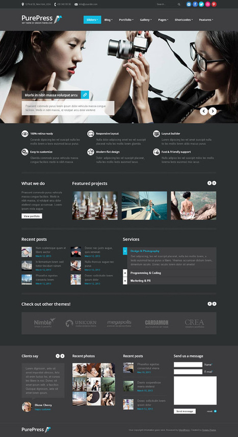 PurePress, WordPress Multilingual Ready Retina Theme | WP Download | New here | Scoop.it
