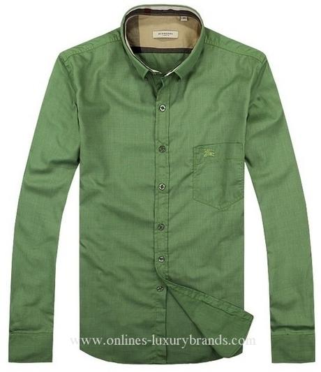 Burberry Mens New Shirts 023 Lightgreen | Burberry Oultet | Scoop.it
