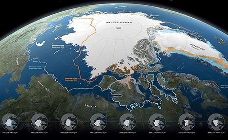 Les cartes du National Geographic ou le crépuscule des glaces arctiques - Pacha cartographie | Quoi de neuf sur le Web en Histoire Géographie ? | Scoop.it