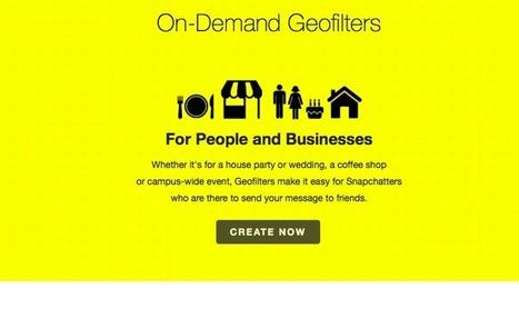 Snap Inc : Des nouveaux géofiltres pour les commerces locaux - Ubiq   Webmarketing Now ! Juste l'essentiel à ne pas rater.   Scoop.it